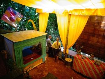 Bamboo Spirit's newly renovated pondok's, down in the sunken garden