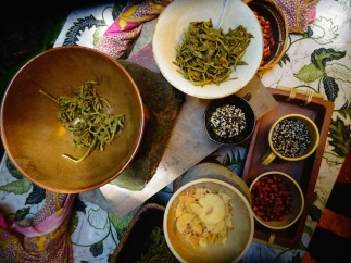 Laphet Food Art! with Miso Furikake sprinkle ...